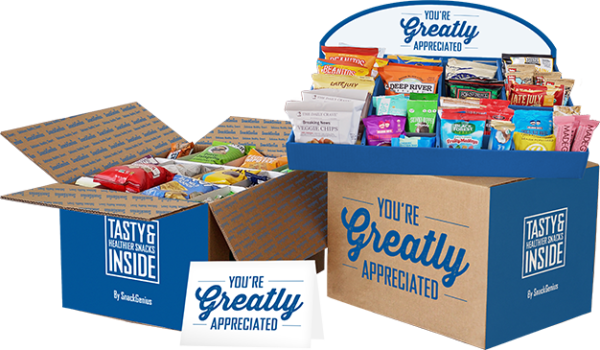 SnackGenius appreciation gift box