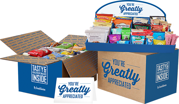 SnackGenius appreciation gift box