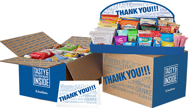 SnackGenius thank you gift box
